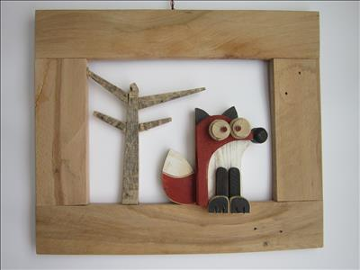 Oggetti artistici in legno riciclato fatti a mano quadri - Quadri fatti in casa ...